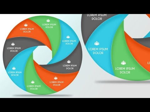 InfoGraphic Tutorial in Photoshop #26 – Circle in equal segments