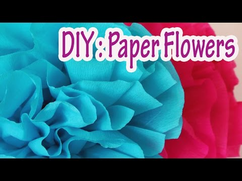 DIY crafts : How to make crepe paper flowers Very easy !! - Ana | DIY Crafts