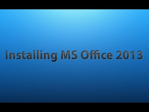 Installing MS Office 2013 in Windows 8.1