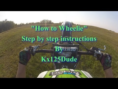 How to Wheelie in 5 Easy steps | Metal Mulisha | MotoOption | FMX | GoPro freestyle moto