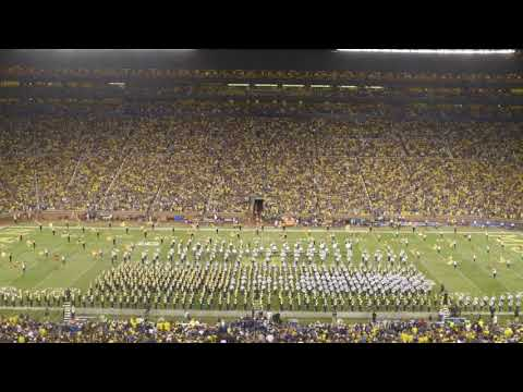 U-M and MSU Marching Bands Create Shape of Michigan