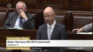 The Dáil  is barred from discussing Irish Water