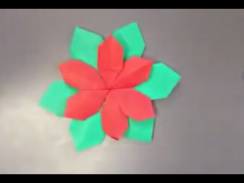 How to make a origami Poinsettia flower