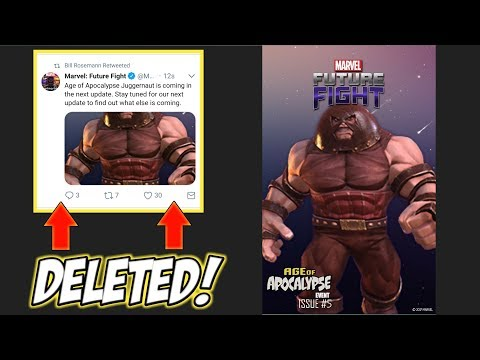Marvel Future Fight: FINAL COVER ON TWITTER!! LEAK? (DELETED TWEET)