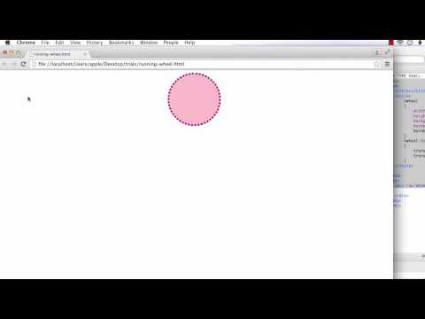 CSS3 Transform and Transition: Creating a Running Wheel using CSS3 Transform and Transition