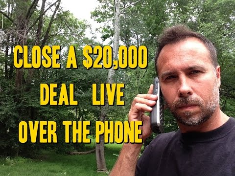 How to Close a $20,000 Deal - Live Sales training