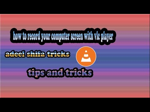 How to Record your Computer Screen with VLC Player hindi/urdu Adeel Shifa Tricks
