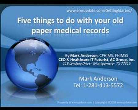 Getting Started: Your old paper medical records