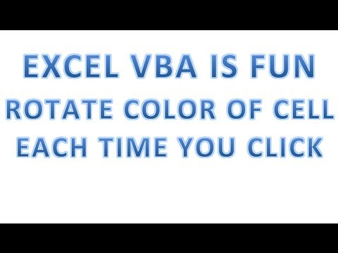 Excel VBA Tips n Tricks #28 Rotate Color of Cell each time you Click  User Q n A