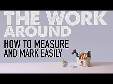 Make a Self-Marking Tape Measure - The Work Around - HGTV
