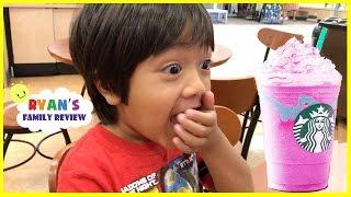Kid React to Starbucks Unicorn Frappe Taste Test!