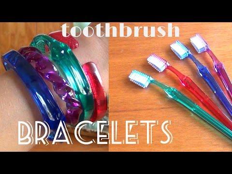 DIY Fashion ♥ Toothbrush Bracelets