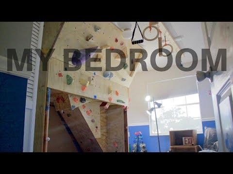 DIY Bedroom converts to Climbing Gym! (TOUR)