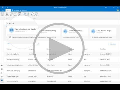 První představení Outlook Contact Manager