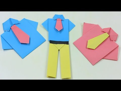 How to Make Paper Pants - Easy Origami Crafts for kids | How to make Origami Pants-Origami trousers
