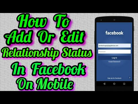 How To Add Or Change / Edit Relationship Status On Facebook