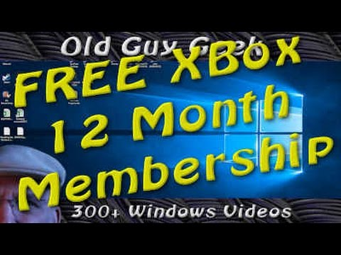 Windows Tip - Get Free Xbox Live 12 Month Subscription