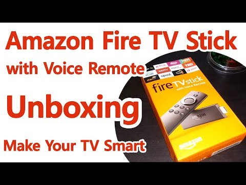 Amazon Fire TV Stick with Voice Remote Media Streaming Device Unboxing !!  HSD TV