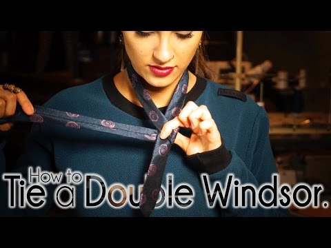 How To Tie A Tie Double Windsor Knot