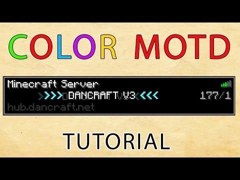 Minecraft: Color Server MOTD Plugin Tutorial