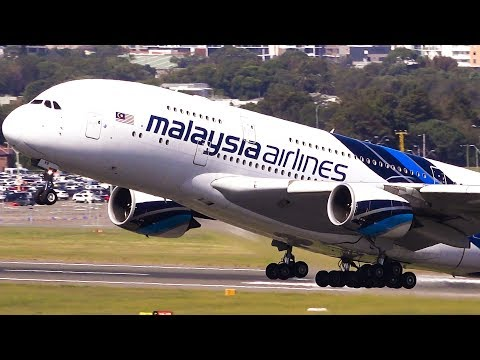 5 AMAZING A380 Take offs | Sydney Airport Plane Spotting