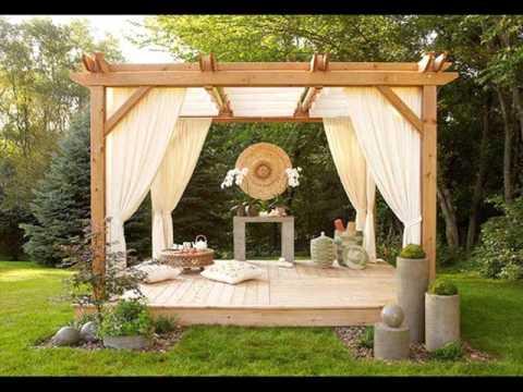 Pergola Curtains Design Ideas, Pictures