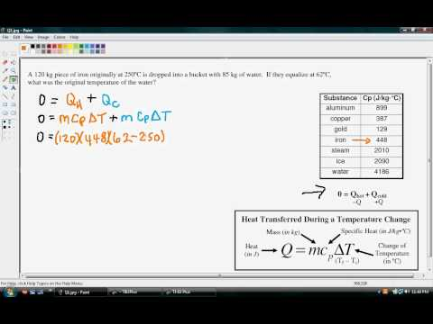 Heat   Thermal Equilibrium Finding Initial Temp