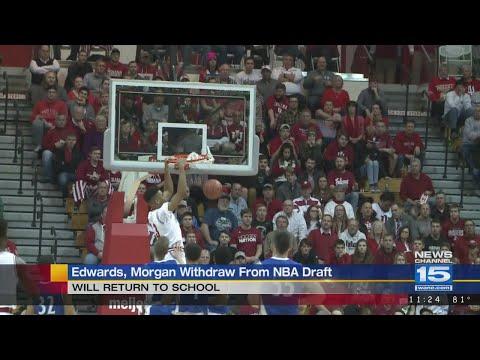 Purdue's Carsen Edwards, IU's Juwan Morgan withdraw from NBA Draft and return to school
