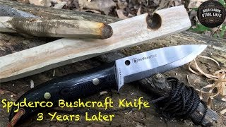 Spyderco Bushcraft After 3 Years, Basswood Bow Drill And Cowboy Coffee On The Emberlit Stove