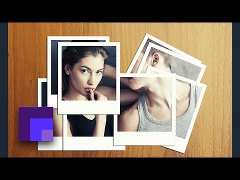 Polaroid Photo Montage / Collage Effect in Photoshop CC 2018