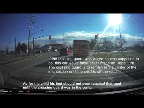 March 8 2017 Crossing Guard not doing their job Southworth and Ontario in Welland