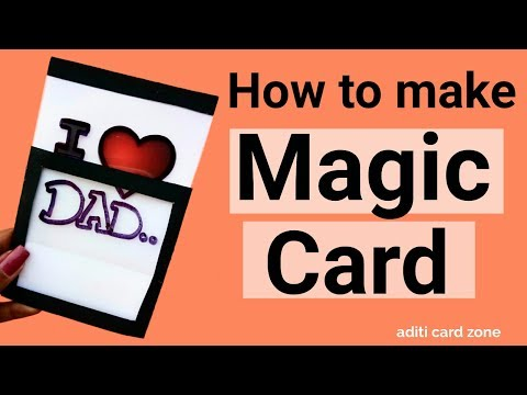 Magic Card Easy Tutorial | Diy Greeting Card Ideas | Father Day Card |
