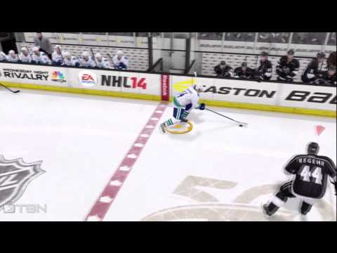 NHL 14 - Blooper - How To Make A Line Change !