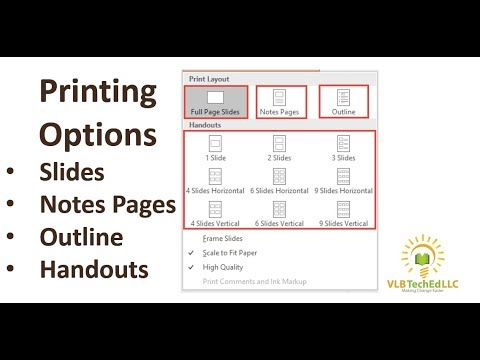 PPT 2016 Printing Options