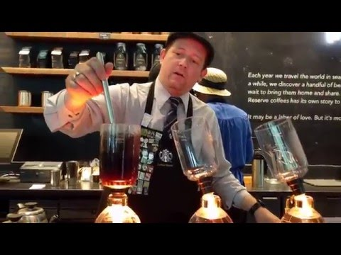Siphon coffee at Starbucks
