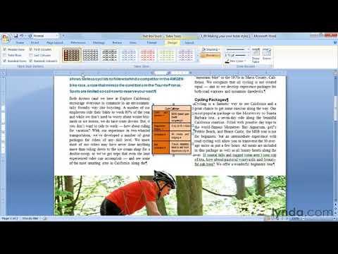 How to make custom table styles in Microsoft Word | lynda.com tutorial
