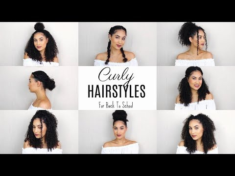 CURLY HAIRSTYLES FOR BACK TO SCHOOL