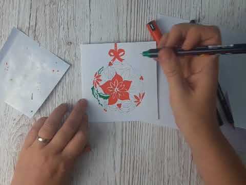 Whip Up A festive Floral Greeting Card