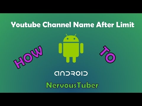 How to Change your YouTube Channel Name After Limit 2016 [Android]