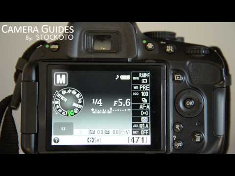 How to set Shutter Speed on a Nikon D5100 , D5200, D5300