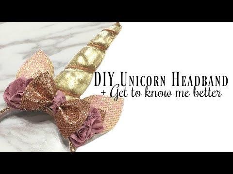 DIY Unicorn headband for Halloween + Get to know us better!