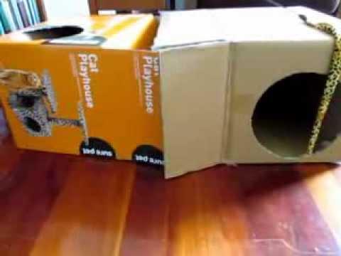 Ruby's playhouse - cardboard cat condo