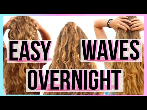 The Trick to Overnight Heatless Waves For Lazy People | MKPINK04