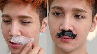 I tried waxing my mustache at home - Edward Avila