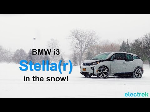 BMW i3 is Stella(r) in the snow (on all season tires).