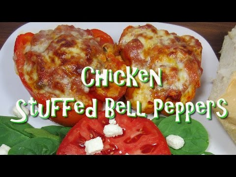 Chicken Stuffed Bell Peppers Recipe ~ Using Leftover Chicken
