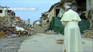 Đức Giáo Hoàng bất ngờ đến thăm miền Trung nước Ý bị động đất tàn phá