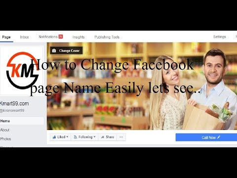 How to Change Facebook Page Name (Change Facebook Page and Category)