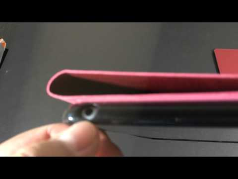 MoKo Portfolio Wireless Bluetooth Keyboard Case Red For Apple iPad Air Unboxing & Review