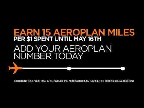 Big News! Earn Aeroplan Miles on SHOP.CA!